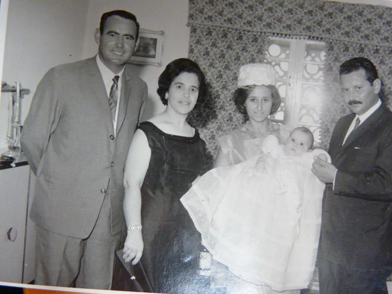 Batizado da filha de Albertina Rafael Gomes
