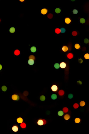 Christmas Tree Lights-Abstract Perspective  Christmas 2012