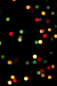 Christmas Tree Lights-Abstract Perspective  Christmas 2012
