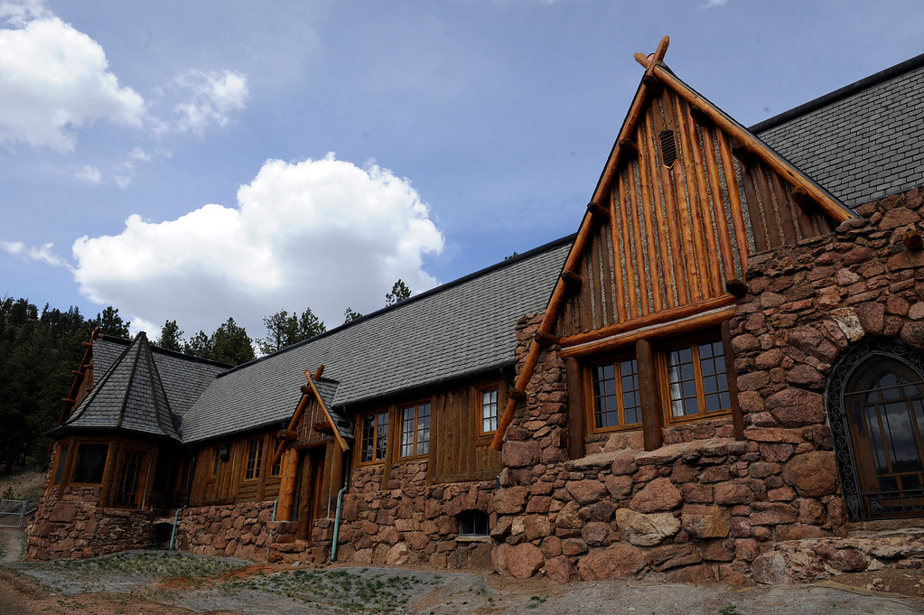 . PINE, CO - APRIL 18: The exterior of Baehrden Lodge on April 18, 2014, in Pine, Colorado. The lodge was built in 1927 to serve as a summer home for William A. Baehr -- a Chicago utilities magnate -- and his family. In 1986, Jefferson County Open Space acquired the property and slowly been renovating it ever since. Visitors can tour the property on Sundays, starting in June. (Photo by Anya Semenoff/The Denver Post)