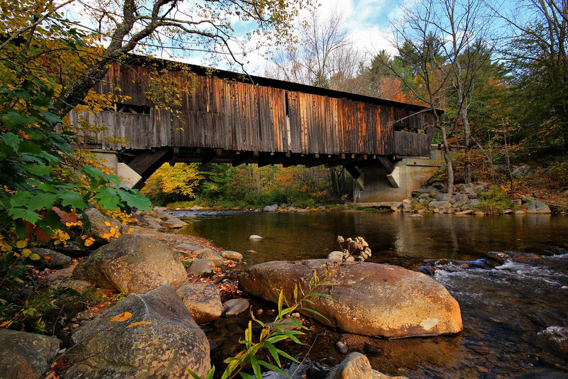 With its character-filled side boards perfectly awash in morning glow, the Durgin Bridge in New Hampshire was the highlight of my 2010 New England trip. The area was totally quiet except for the water babbling over the rocks and lots of birds singing. After the photos were taken I could not leave-despite my aggressive travel plans for the day. Completely alone, I did not move for about 20 minutes as I soaked it all in.