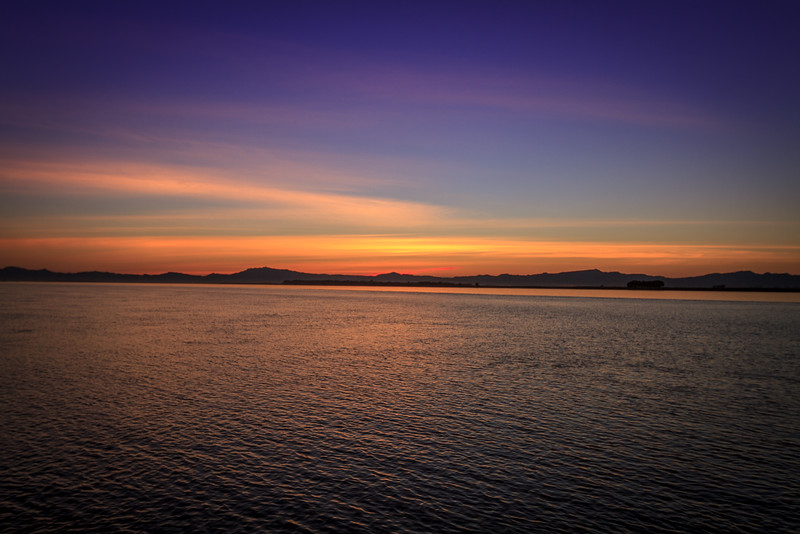 Sunset on the Irwaddy River