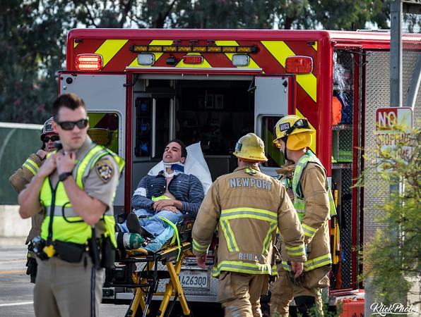 Newport Beach Overturned Vehicle - November 5th, 2017