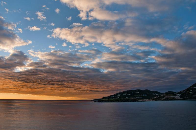 A beautiful sunset over St. Maarten.