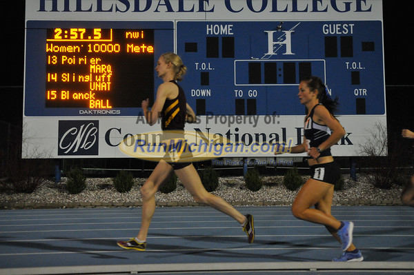 Women's 10,000 Meters - 2013 Hillsdale Gina Relays (Day 2)