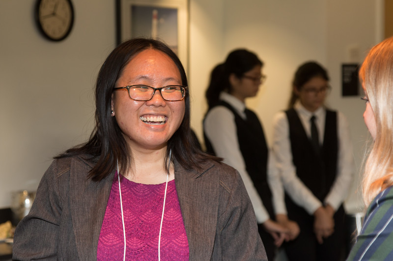 """Christina Chu (2014 Scholar) -- An award luncheon, """"Dr. John Mather Nobel Scholars Program Award"""", as part of the National Space Grant Foundation. College Park Aviation Museum, College Park, MD, August 2, 2019."""