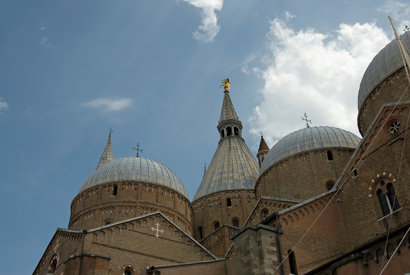 Domes and towers at Basilica of Saint Anthony of Padua - Italy