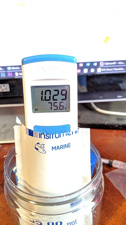 2019-03-04 - New salinity meter and calibrating pH and Salinity PinPoints - Reef