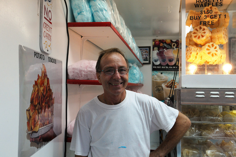 "Danny King......     Local boardwalk merchant and fellow Deadhead, great guy. ""Kingies"" has the best cotton candy in OC."