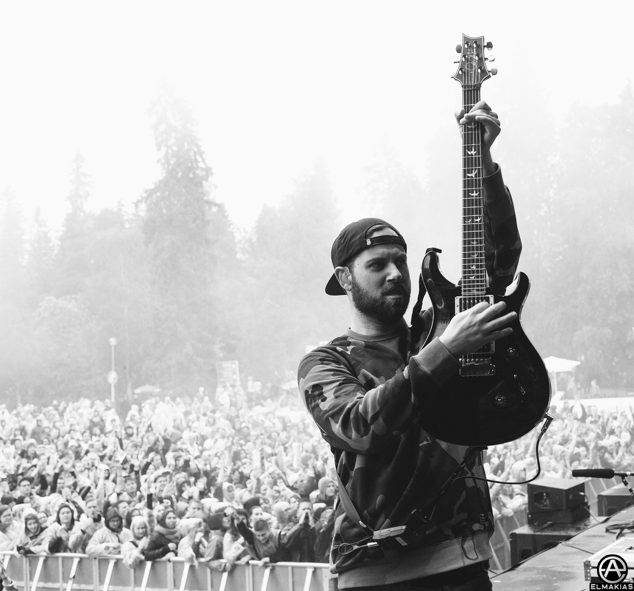 Kevin Skaff of A Day To Remember at Provinssirock in Helsinki, Finland