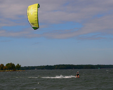 Kite Boarding on Lake Norman