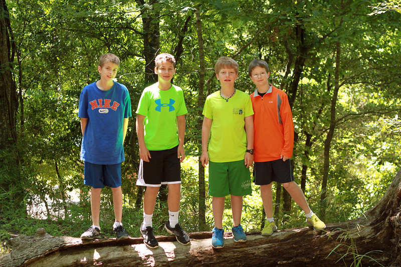 Harry's 11th birthday party -- hiking at Tunica Falls.