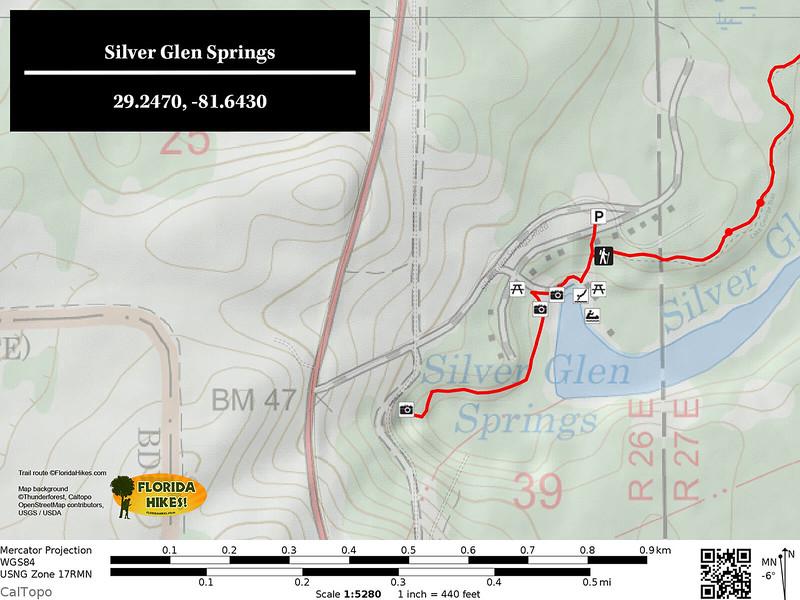 Silver Glen Springs Trail Map