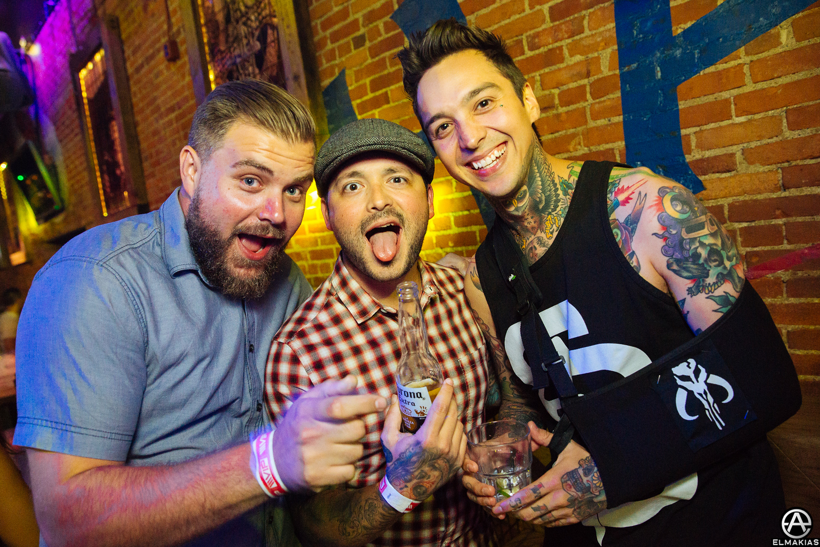Brian Southall, Nick Martin of Sleeping With Sirens and Tony Perry of Pierce The Veil at the APMAs 2015 by Adam Elmakias