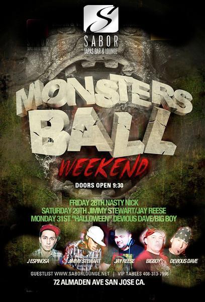 Monsters Ball Weekend @ Sabor Tapas Bar & Lounge  10.28.11