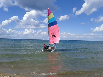 Sailing on Lake Michigan, Chicago IL - 7/8/2014