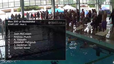 E32 Men's 200 yd Backstroke