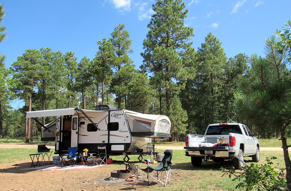Camping and playing on the Mogollon Rim