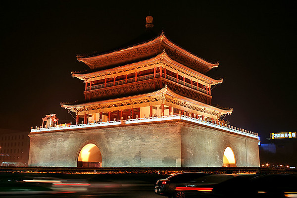 Xian City at night