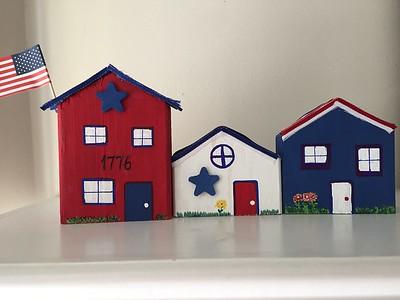 June Glue Gun Gang: Patriotic Houses