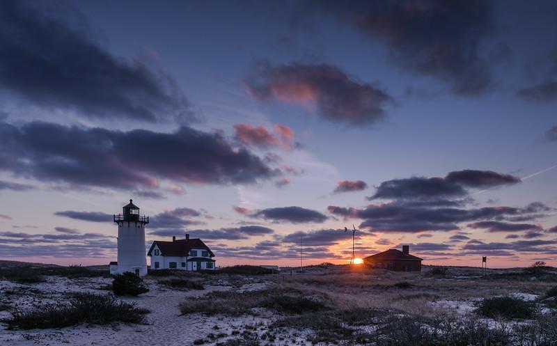 Race Point Lighthouse December Sunset horizontal