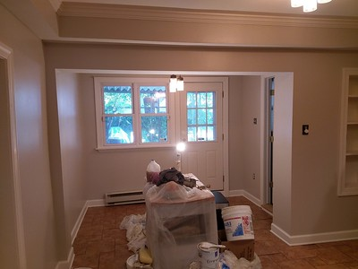 167 Markle st. Manayunk kitchen repair, painted & LR drywall patches..Photos.