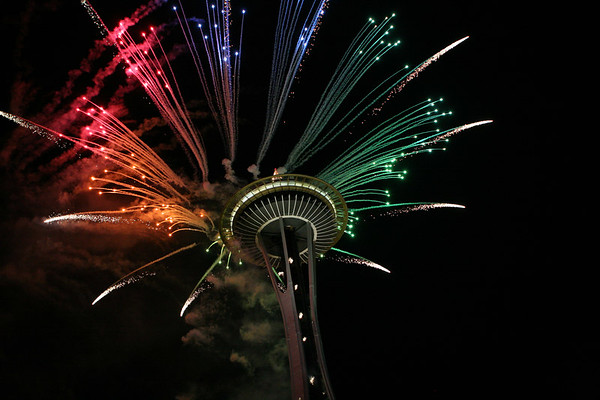 Space Needle New Years Eve 2006