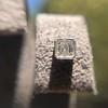 .54ctw Asscher Cut Diamond Bezel Stud Earrings, Platinum 3