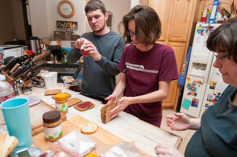 Brown bag lunches for everyone. Jonee, Wayne, Mom, and Dad will depart god-awful early Wednesday; I will depart a little later. All of our travel will be unremarkable, luckily.