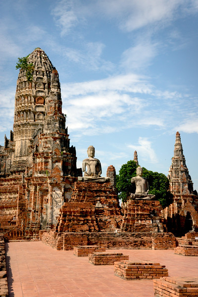 Ayuthaya, Thailand Temple Ruins at Wat Chai Wattanaram