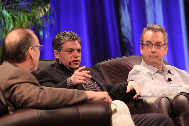 """""""Infrastructure 2.0: The Coming Network Revolution"""": (L-R) Host Greg Ness, Senior Director, Infoblox; Richard Kagan, VP Marketing, Infoblox; and Mark Thiele, Director, Business Operations for R&D, VMware"""