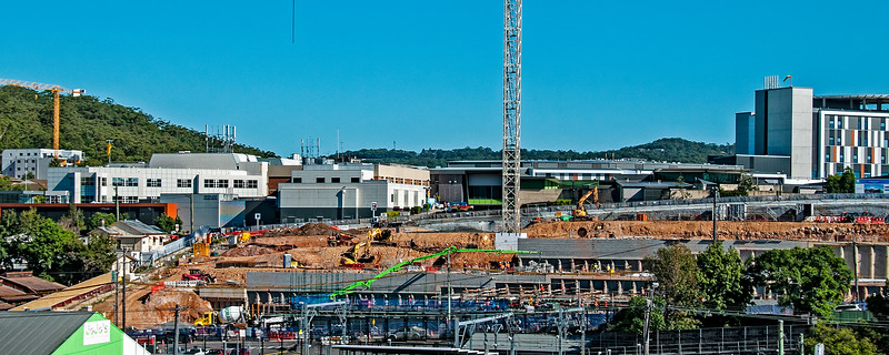 Gosford Hospital building progress  May 7,  2018.   (h15ed)