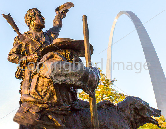 Lewis & Clark Statue on Arch Grounds, St. Louis Waterfront