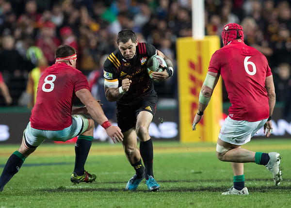 Stephen Donald during game 6 of the British and Irish Lions 2017 Tour of New Zealand,The match between  The Chiefs and British and Irish Lions, FMG Stadium, Hamilton, Tuesday 20th June 2017 (Photo by Kevin Booth Steve Haag Sports)  Images for social media must have consent from Steve Haag
