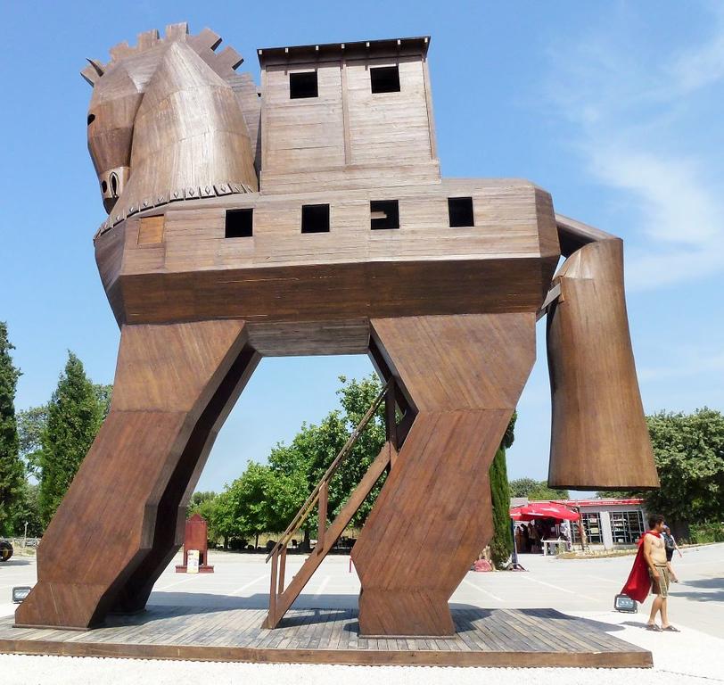 Trojan Horse in Troy Turkey