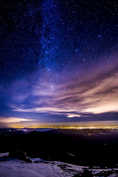 Night Lights from Mount Evans