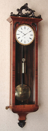 VR-302 Biedermeier week-duration 3-lite Timepiece with single-piece dial and pie-crust bezel