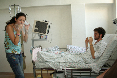 Yuval in hospital with Leptospirosis