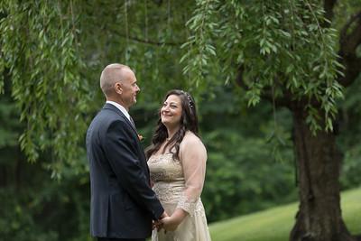 Carla Lomangino & Kyle Murray New Endland Wedding Photographer- East Longmeadow Back Yard Ceremony