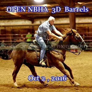 OPEN NBHA 3D Barrels  Oct 2 2016