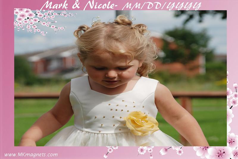wedding magnet frame - pink flowers.jpg