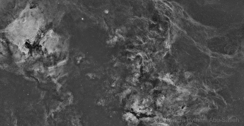 Cygnus  8 Panel Mosaic - North America to Gamma Cygni