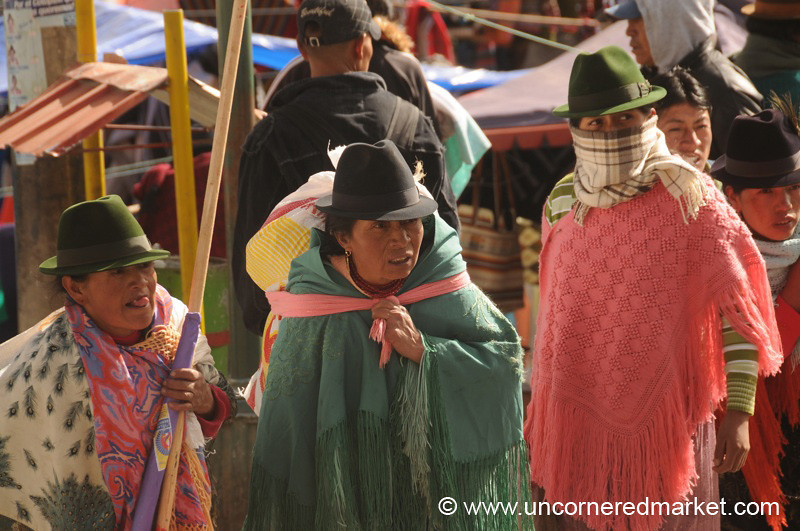 Hats and Ponchos - Zumbahua, Ecuador