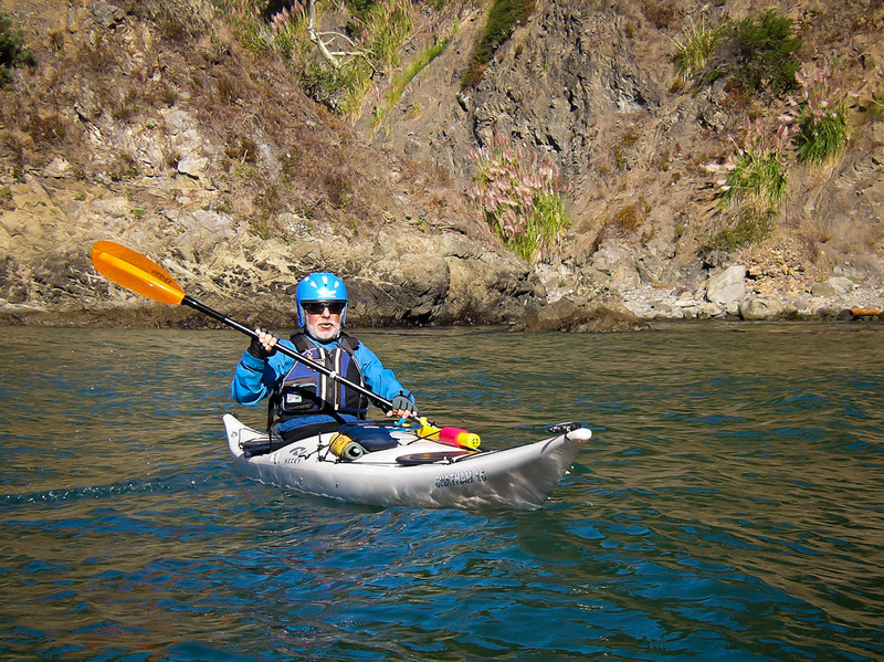 First paddle - Russian Gulch Larry
