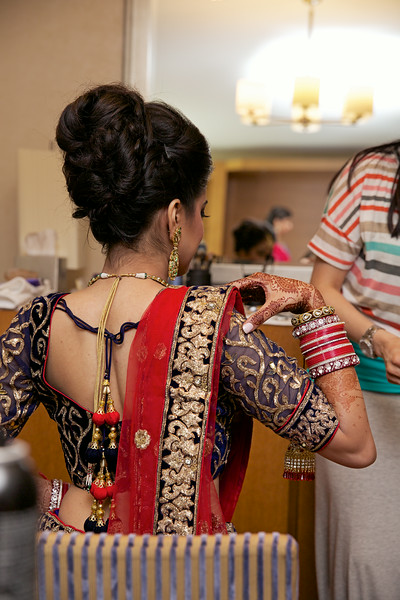 Le Cape Weddings - Indian Wedding - Day 4 - Megan and Karthik Bride Getting Ready 13.jpg