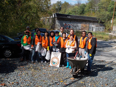 10.10.12 River Cleanup in Ilchester Area off River Road in Catonsville/Ellicott City with Merkle, Inc. employees