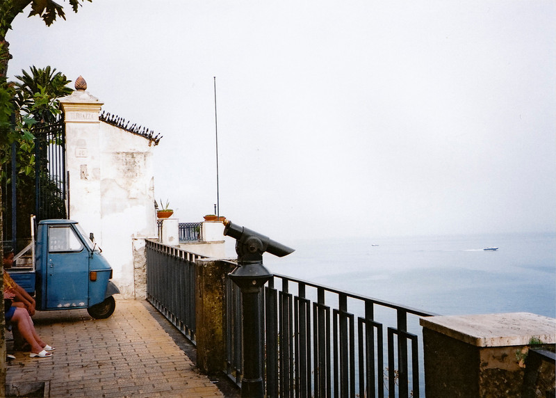 An Ape taking in the view in Sorrento, Italy.