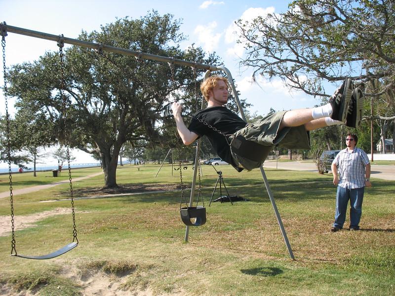 An interlude of boyfulness: Bryan swings