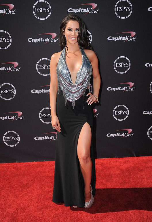 . Actress Syd Wilder arrives at the ESPY Awards on Wednesday, July 17, 2013, at the Nokia Theater in Los Angeles. (Photo by Jordan Strauss/Invision/AP)