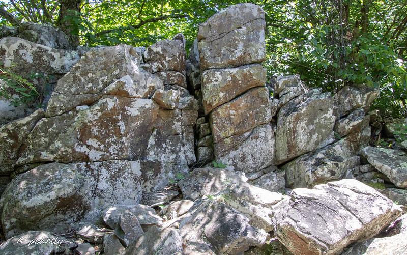 I like patterns in rocks.